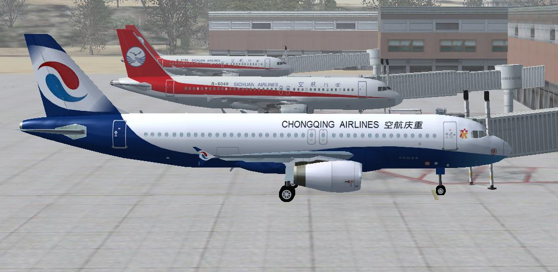 Chongqing Airlines A320 at Chongqing - Ultimate Traffic Forums